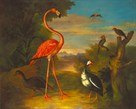 Flamingo In A Landscape by Jacob Bogdani