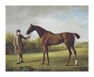 'Lustre' Horse Held by Groom by George Stubbs