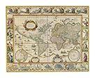 Map Of The World by Willem Janszoon Blaeu