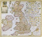 A New Map of England, Scotland and Ireland, 1680 by Robert Morden