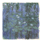 Blue Water Lilies Between, c.1916-1919 by Claude Monet