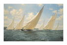 Britannia racing in the Solent, 1933 by Steven Dews