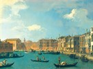 View Of The Canal Of Santa Chiara by Antonio Canaletto