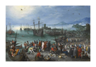 Harbour Scene with St. Paul's Departure from Caesarea by Pieter Bruegel the Elder