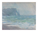 Rainfall, Etretat, 1886 by Claude Monet