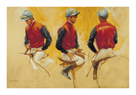 Jockey In Red And Blue by Henry Koehler