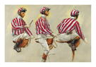Jockey In The Striped Silks by Henry Koehler