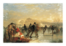 Skaters On Duddingston Loch, Edinburgh by Charles Lees