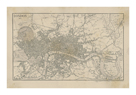 Map of London, 1815 by The Vintage Collection