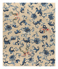 Embroidered Silk, with Butterflies by Oriental School