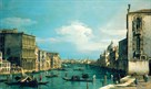 The Grand Canal Venice, Looking East from the Campo di San Vio by Antonio Canaletto