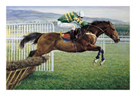 Istabraq at Cheltenham II by Susan Crawford