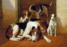 Foxhounds and a Terrier by E.A.S. Douglas