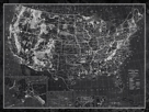 Explorer - USA Map - Noir by The Vintage Collection