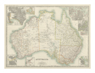 Australia Map 1880 by Keith Johnston