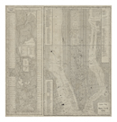 Guide Map - NYC and Central Park by The Vintage Collection
