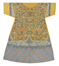 Embroidered Silk Robe, Dragons on Yellow, Back by Oriental School