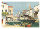 The Old Bridge Venice by C.R. Doyly-John