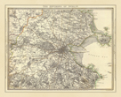The Environs of Dublin Map, 1837 by John Rocque