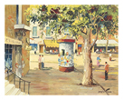 The Kiosk -  St. Tropez by C.R. Doyly-John