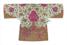 Embroidered Silk Robe, Pink Chrysanthemums, Back by Oriental School