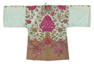Embroidered Silk Robe, Pink Chrysanthemums, Front by Oriental School