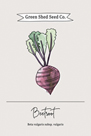 Green Shed Seeds - Beetroot by Clara Wells