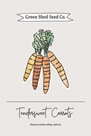 Green Shed Seeds - Carrots by Clara Wells