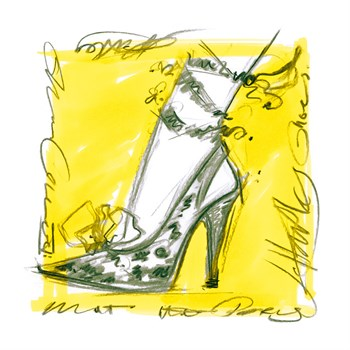 Catwalk Heels IV Print by Jane Hartley