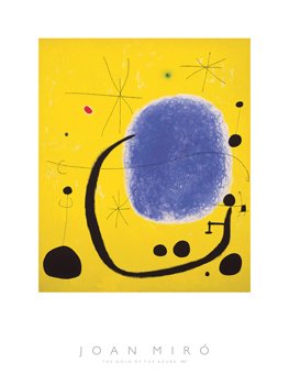 The Gold of the Azure, 1967 Print by Joan Miro