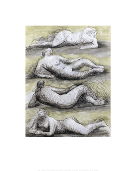 Four Reclining Nudes, 1979 Fine Art Print by Henry Spencer Moore