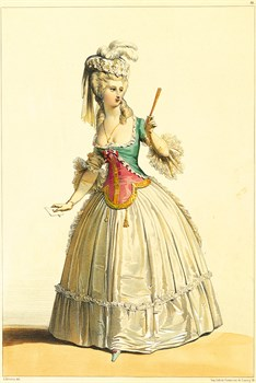 Costume sous Louis XVI Print by Andre Deveria