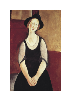 Portrait of Thora Klinchowstrom Fine Art Print by Amedeo Modigliani