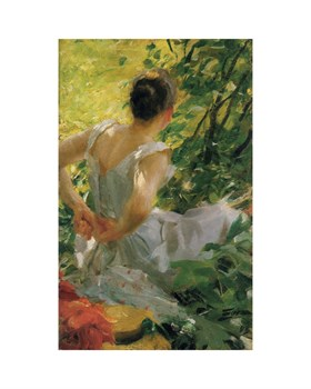 Woman Dressing Print by Anders Zorn