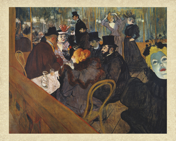 At The Moulin Rouge Print by Henri de Toulouse-Lautrec