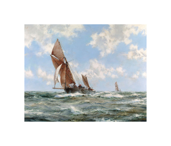 A Stiff Breeze – Thames Barges Fine Art Print by Montague Dawson