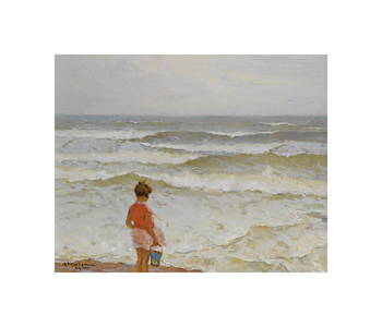 Girl by the Seashore Fine Art Print by Charles Atamian
