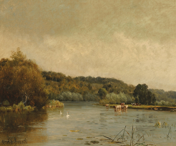 An Autumn Morning (No. 3) Print by Alfred de Breanski