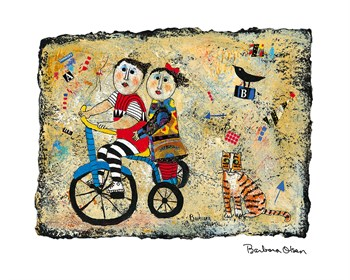 Bicycle Built for Two Print by Barbara Olsen