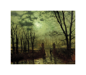 At the Park Gate Fine Art Print by John Atkinson Grimshaw