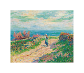 The Road near the Seascape Fine Art Print by Henry Moret