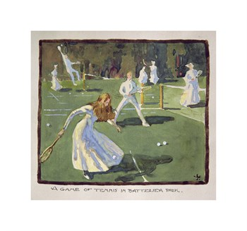 A Game of Tennis Fine Art Print by James Wallace
