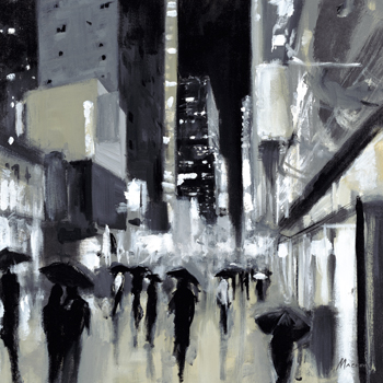 Downtown Evening Print by Shawn Mackey