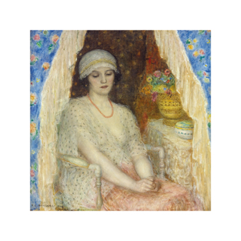 Blue Curtains, 1924 Fine Art Print by Frederick Carl Frieseke