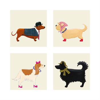 City Dogs and Country Dogs Print by Kate Mawdsley