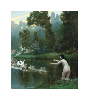 Leda and the Swan Fine Art Print by Jean-Leon Gerome