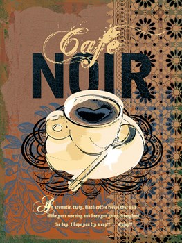 Cafe Noir Print by Ken Hurd