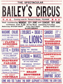 Baileys Circus Print by The Vintage Collection