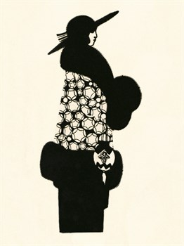 Blanche-Noir II Print by The Vintage Collection