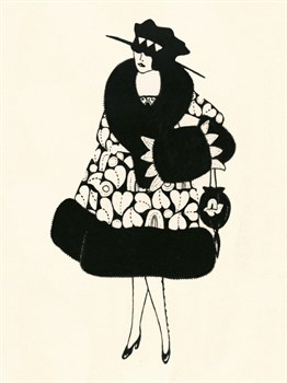 Blanche-Noir III Print by The Vintage Collection